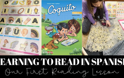 Our First Reading Lesson in Spanish