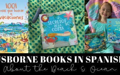 Usborne Books in Spanish About the Beach & Ocean